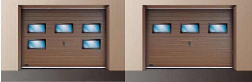 Vente et pose de portes de garage sectionnelles en - Porte de garage sectionnelle avec fenetre ...